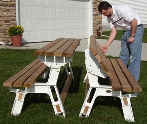 Combo Bench/Table - by Randy Sharp @ LumberJocks.com ~ woodworking